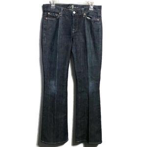 7FAM Flare Dark Wash Jeans Size 28